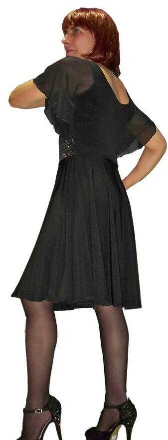 DRESS WHEEL WITH SLEEVES TULLE RED AND LINING 4-0041