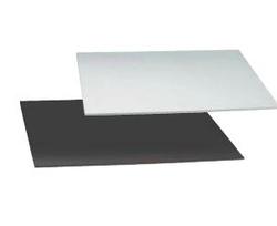 Vassoio quadrato per torta nero e argento spessore 3 mm varie misure