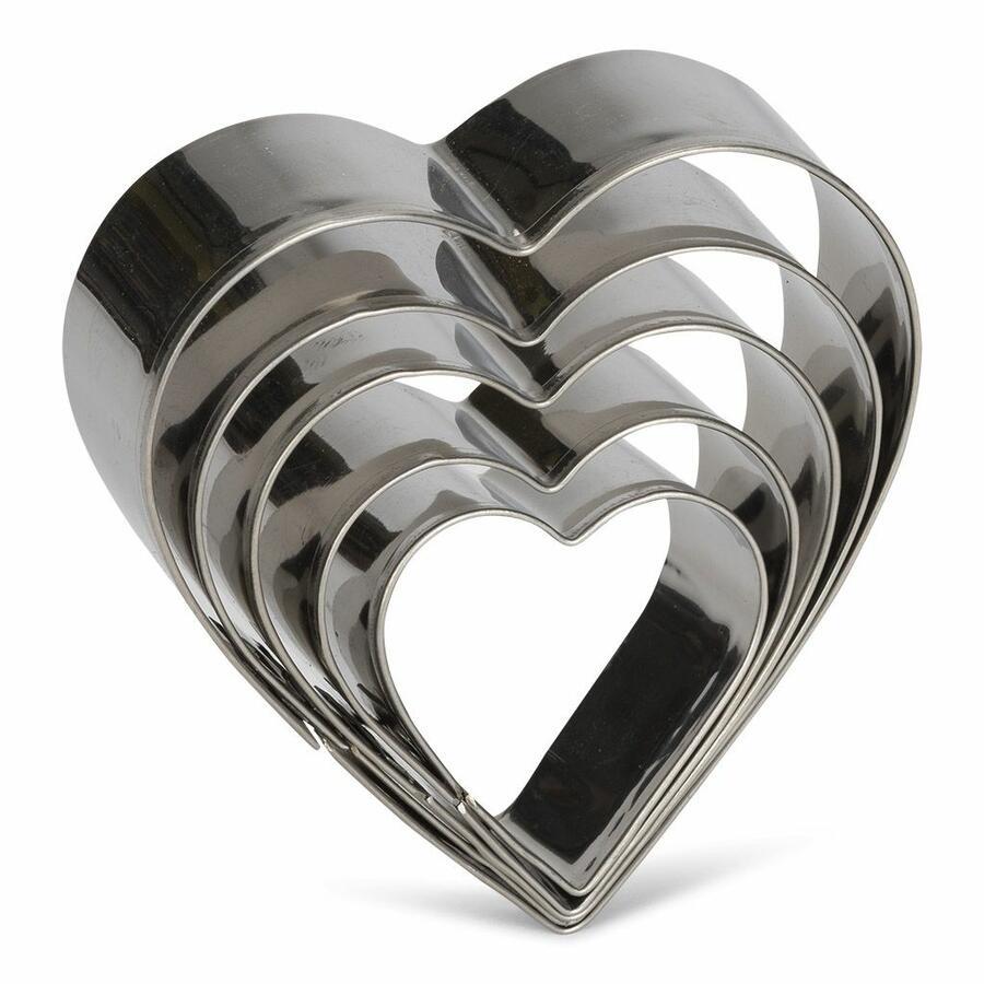Set 5 cutter tagliabiscotto a cuore