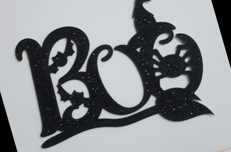 Halloween 10 Pz Topper cartoncino glitter