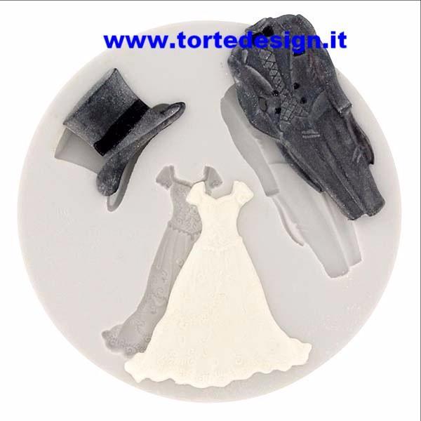 stampo silicone 3 soggetti sposi