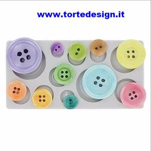 stampo silicone bottoni semplici (mould)