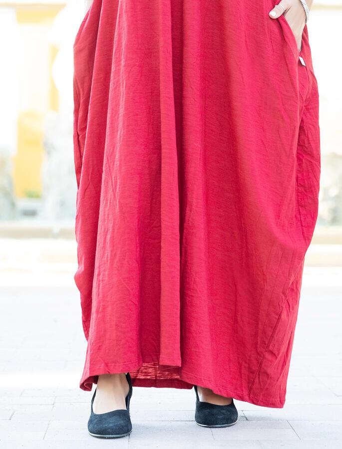 Vestito lungo Veena - Rosso