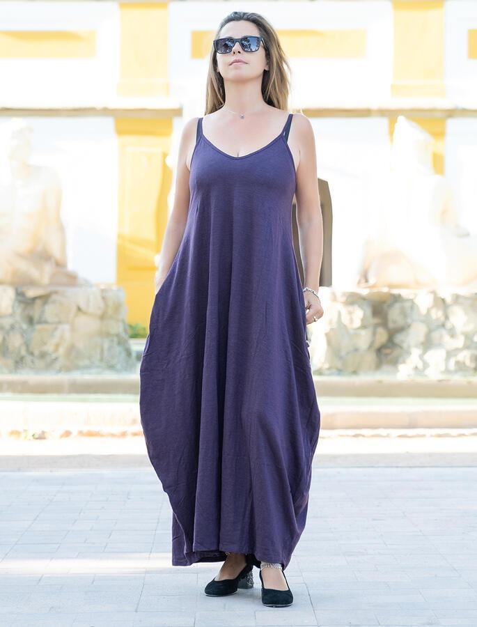 Vestito lungo Veena - Viola