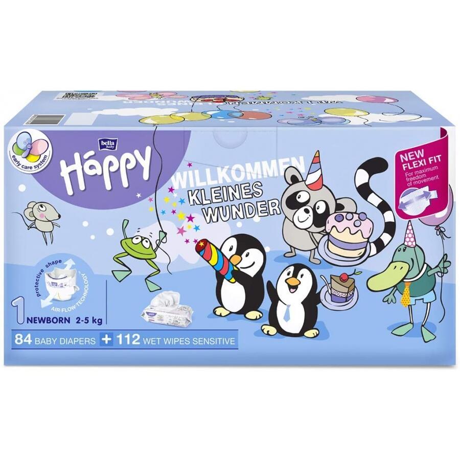 Pannolini Happy 1 NEW BORN 2-5 Kg - BOX NASCITA