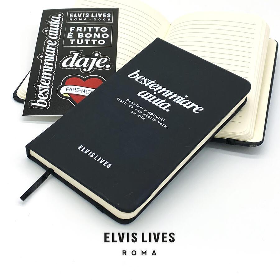 Elvis Lives Taccuino 9x14 - Bestemmiare Aiuta