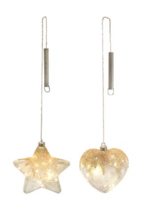 Pendente in Vetro Clear Design 15 cm con Decoro Cristalli GIOCOPLAST