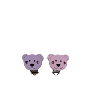 Clip orso in legno