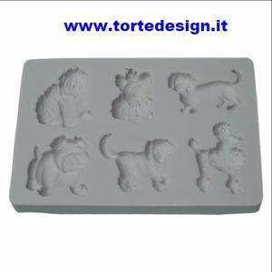stampo silicone 6 cagnolini (mould)