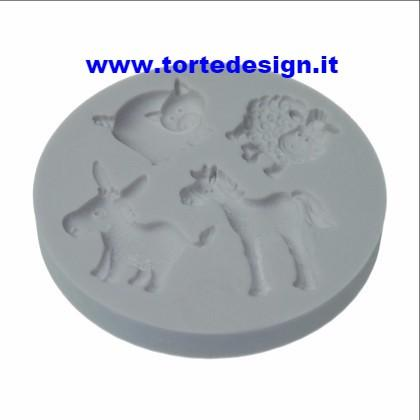 stampo silicone animali fattoria (mould)