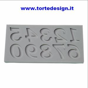 stampo silicone numeri old style (mould)