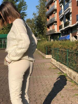 Pantalone WhiteWise velluto a coste panna