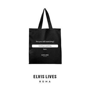 Elvis Lives Shopper Binge Watching Black