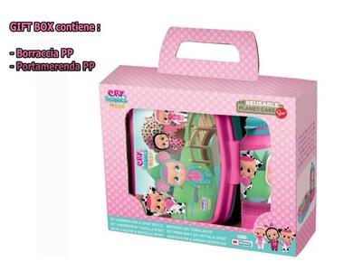 Cry babies giftbox borraccia + portamerenda