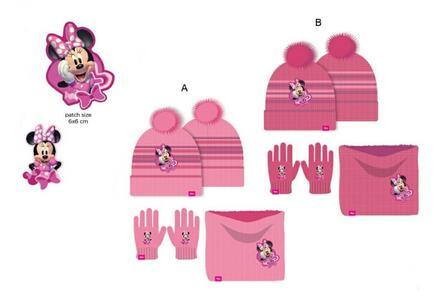Minnie - set 3 pz cappello-scaldacollo-guanti