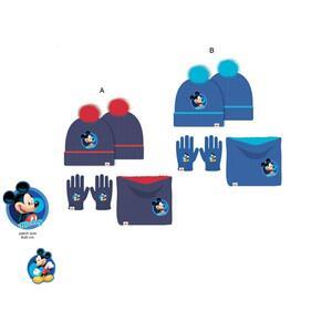 Mickey - set 3 pz cappello-scaldacollo-guanti