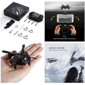 M1HS Mini Drone - 0.3 MP fotocamera, FPV, supporto App, WiFi LED luci, 220mAh