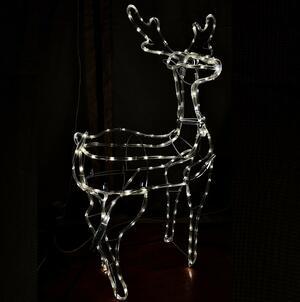 Renna Luminosa 3D con Tapelight Bianco 93x60x28 cm GIOCOPLAST