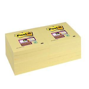BLOCCO 90 foglietti Post-it Super Sticky Giallo Canary 76x76mm 654-12SS-CY
