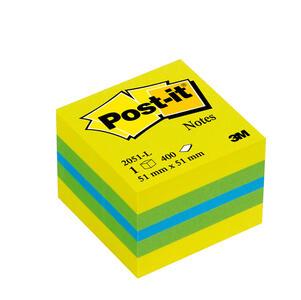 BLOCCO MINICUBO 400 foglietti Post-it 51x51mm 2051-L GIALLO NEON