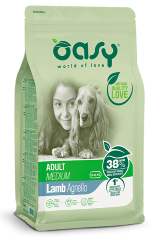 Cane Adult Medium Agnello Da 3-12 kg. OASY