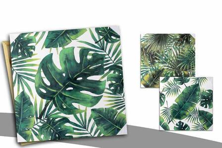 Quadro Moderno  Tela su legno Pannello Decorativo per Parete Stampe Stile Botanic Casa Arredamento 60x60 cm
