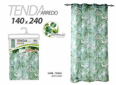 Tenda per Arredo Stile Botanic Ideale per tutte le Stanze  Tende colore Verde 140x240 cm