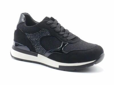 Inblu IN000272 sneakers donna nere con strass