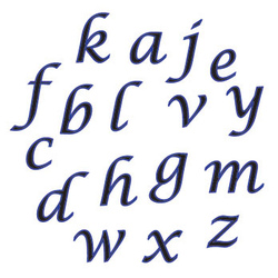 Set alfabeto  corsivo italico FMM