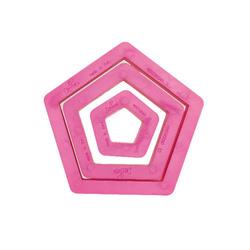 Set 3 tagliapasta pentagono plastica Decora