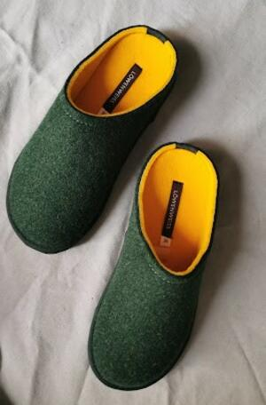 Ciabatta Löwenweiss Easy bicolore verde-giallo