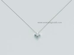 CLD2937 007S Girocollo Miluna Punto Luce con Diamante -