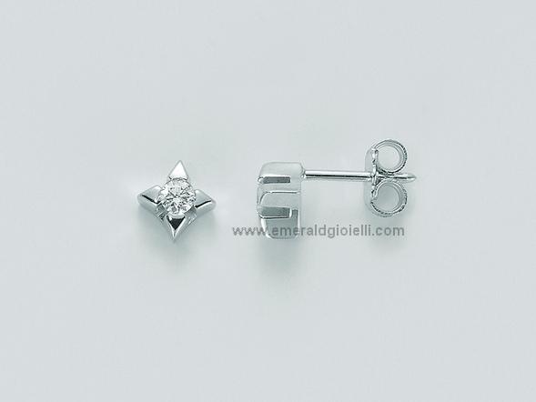 ERD1590 007S Orecchini Punti Luce con Diamante Miluna -