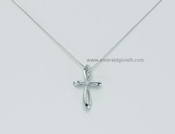 CLD2914 Girocollo con Croce e Diamanti Miluna -