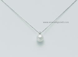 pcl3932 Girocollo con perla e Diamante Miluna -