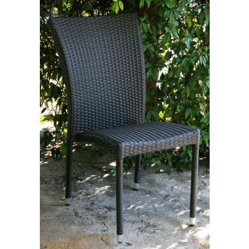 Sedia da Giardino mod. Sciacca senza Braccioli in Polyrattan Marrone 46x67x90Hcm 93917