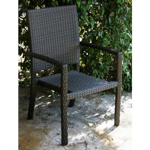 Sedie Per Il Giardino.Sedia Da Giardino Mod Sciacca Con Braccioli In Polyrattan Colore