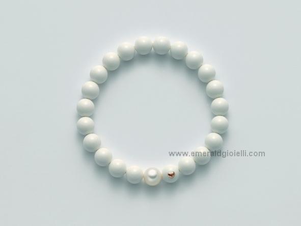 PBR1804 Bracciale con Corallo Bianco e perla Miluna