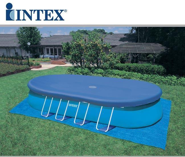 Piscina ovale autoportante intex 54432 cm 549x305x107 con - Accessori piscine intex ...