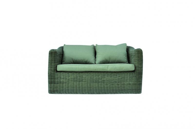 Set divanetti in wicker Set Caracas divano + 2 poltrone tavolino cuscini SET58