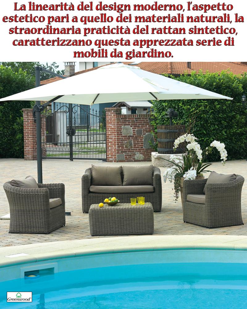 Set divanetti in wicker set caracas divano 2 poltrone - Set divano rattan ...
