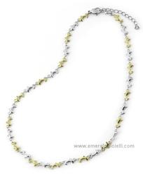 ST3372 Girocollo Donna con Delfini in Acciaio e Oro Thiago gioielli