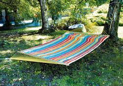 Amaca da giardino In Cotone Rigato 320 Gr. Imbottita Con Cuscino AM 58 200 x 150 cm