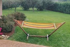 Amaca da giardino In Cotone Rigato 320 Gr. Moia Am 23 Dimensioni 200 X 100 cm Supporto non incluso