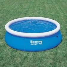 Telo solare copertura termico galleggiante piscina d 244 cm Intex Bestway 58060