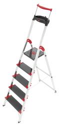 Scala in alluminio HAILO CHAMPIONSLINE XXR 225 EASYCLIX a 5 gradini portata 225 kg super robusta 8010