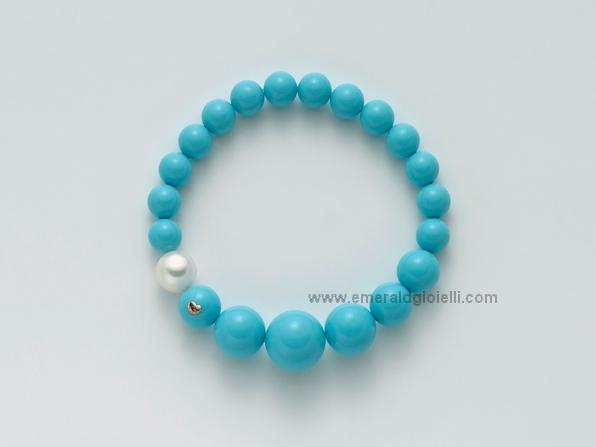 PBR1797 Bracciale Miluna con Turchese e perla