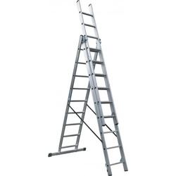 Scala Professionale Industriale In Alluminio Polivalente 3X9 Gradini Maurer Plus 90877