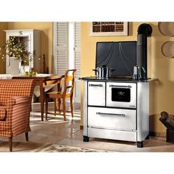 Cucina a Legna Nordica Extraflame Romantica 4,5 DX Acciaio Porcellanato Potenza Termica Nominale 6 kW 172 m3 riscaldabili Colore Bianca