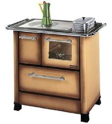 Cucina a Legna Nordica Extraflame ROMANTICA 4,5 DX Acciaio Porcellanato Potenza Termica Nominale 6 kW 172 m3 riscaldabili Colore Marrone Sfumato